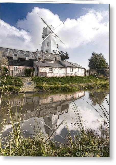 The White Smock Windmill Rye East Sussex Greeting Card by John Boud