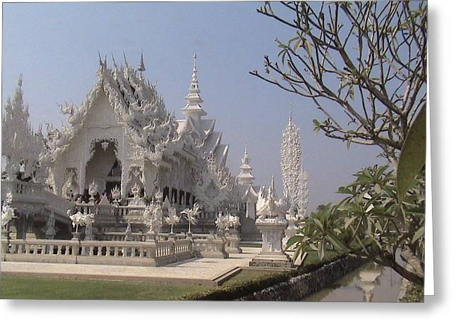 The White Temple Greeting Card by William Thomas