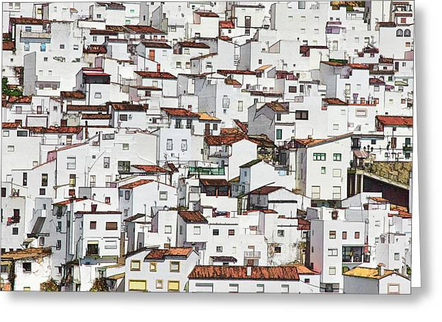 the whiter side of Casares Greeting Card