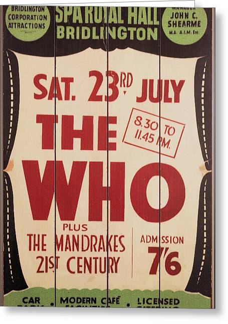 The Who 1966 Tour Poster Greeting Card