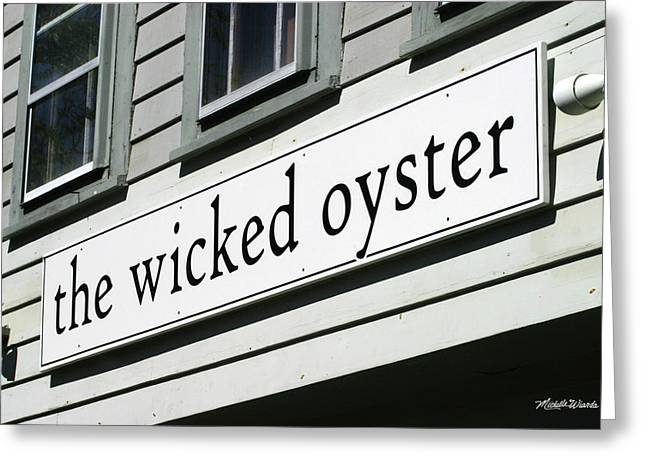 The Wicked Oyster Wellfleet Cape Cod Massachusetts Greeting Card