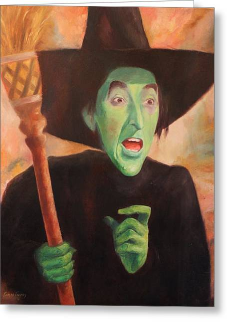 The Wicked Witch Of The West Greeting Card by Caleb Thomas