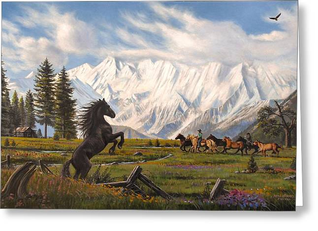 The Wild One Greeting Card by Mike Roberts