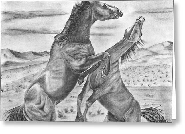 The Wild West Mustangs Greeting Card by Russ  Smith