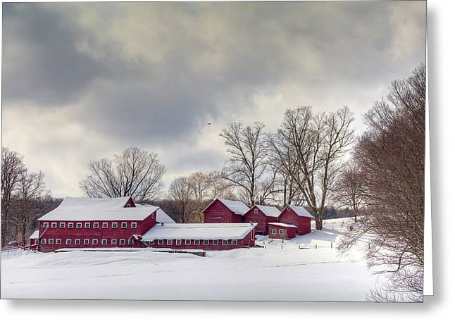 Greeting Card featuring the photograph The Williams Farm by Susan Cole Kelly