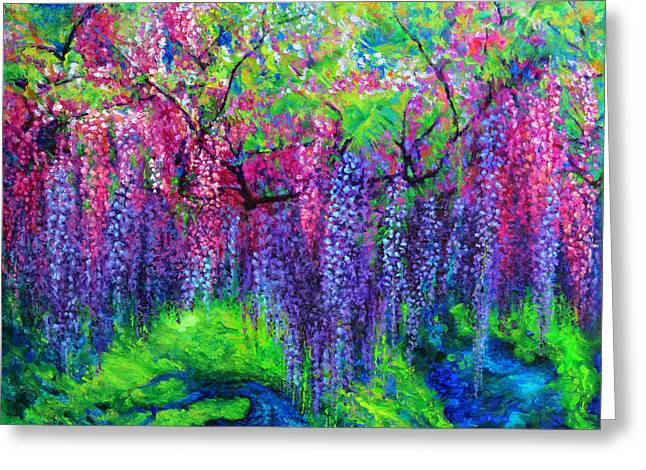 The Wind Whispers Wisteria Greeting Card