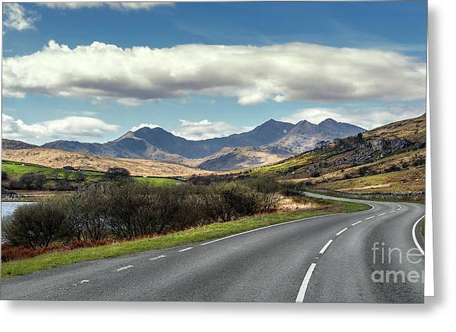 The Winding Road Greeting Card by Adrian Evans