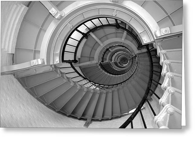 The Winding Stairs Of A Lighthouse Greeting Card
