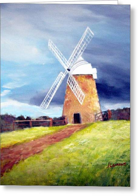 The Windmill Greeting Card by Julie Lamons