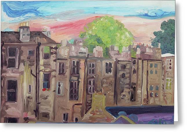 The Window Greeting Card by Joseph Demaree