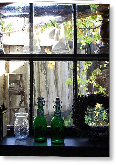 The Window Greeting Card by Mark Alan Perry