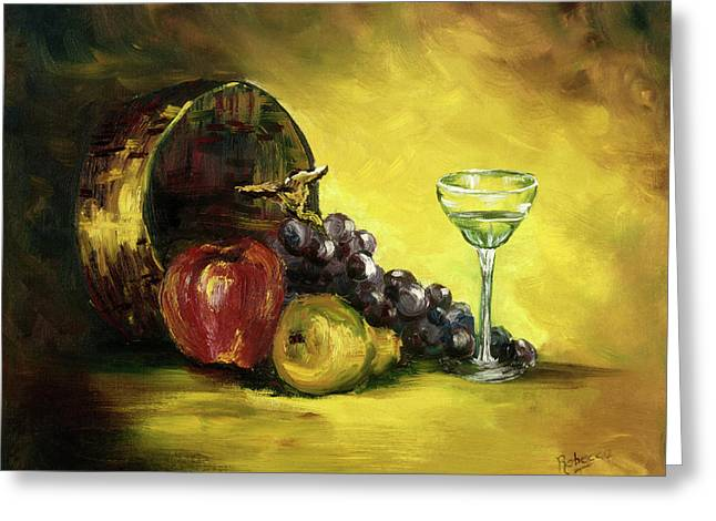 The Wine Glass Greeting Card by Rebecca Kimbel