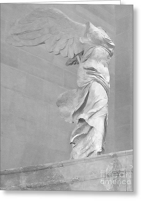 The Winged Victory Of Samothrace Greeting Card by Lilliana Mendez