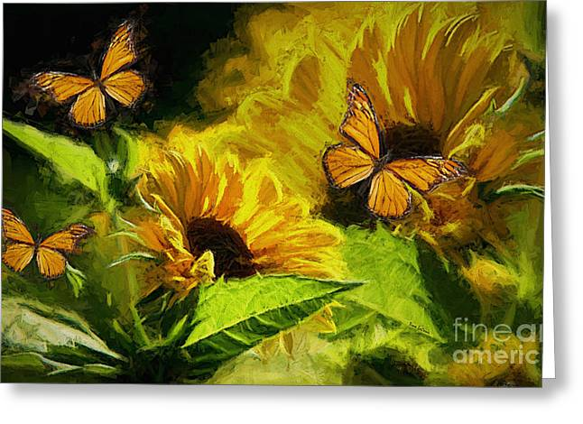 The Wings Of Transformation Greeting Card by Tina  LeCour