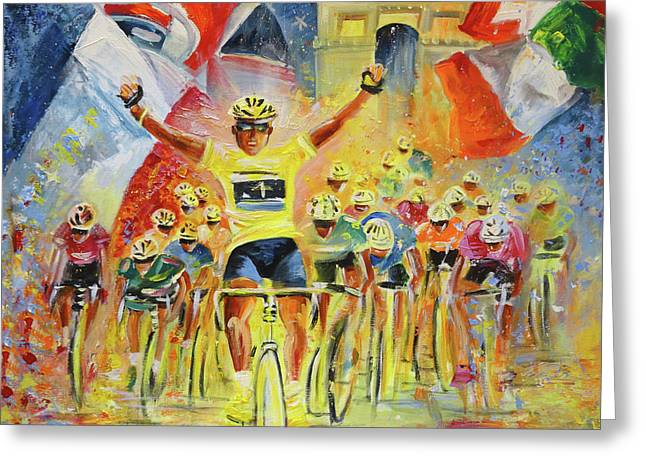 The Winner Of The Tour De France Greeting Card
