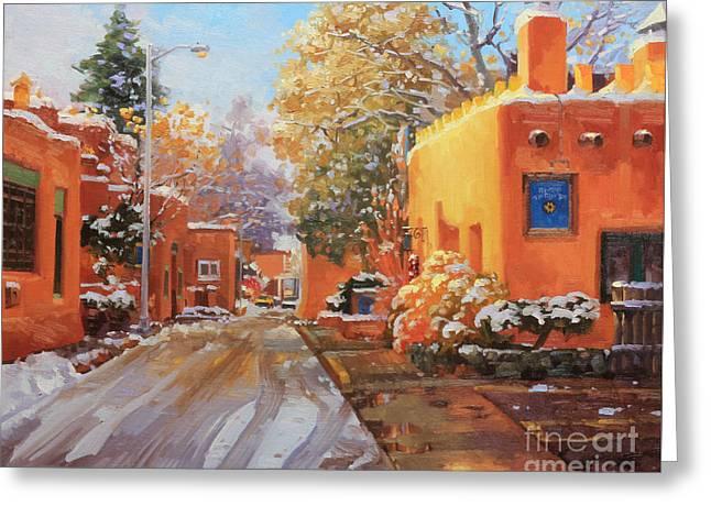 The Winter Beauty Of Santa Fe Greeting Card by Gary Kim