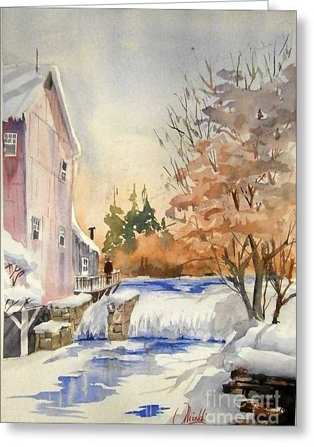 The Winter Mill Greeting Card