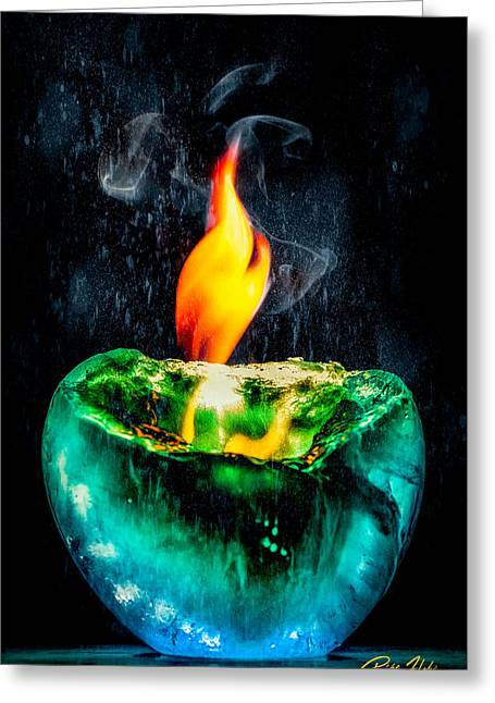 Greeting Card featuring the photograph The Winter Of Fire And Ice by Rikk Flohr