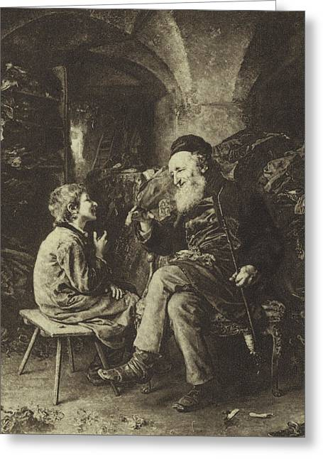 The Wisdom Of Solomon Greeting Card by Ludwig Knaus