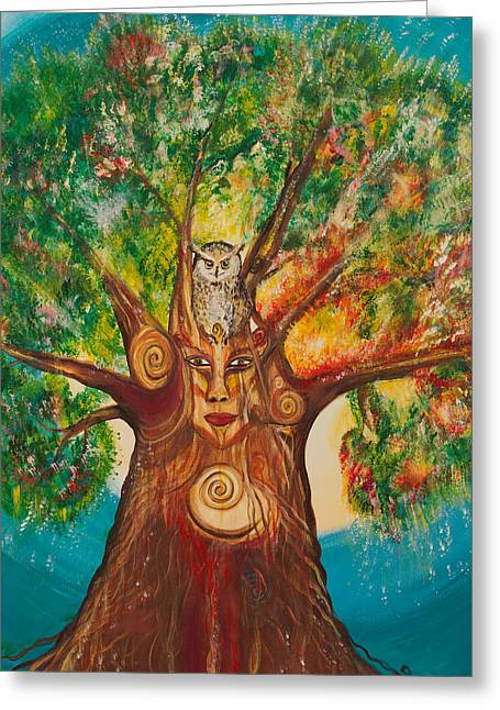 The Wisdom Tree Greeting Card by Solveig Katrin