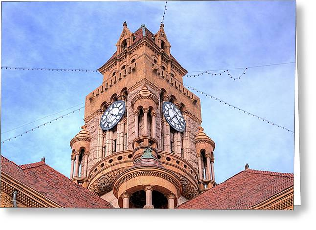 The Wise County Courthouse Clock Tower Greeting Card by JC Findley