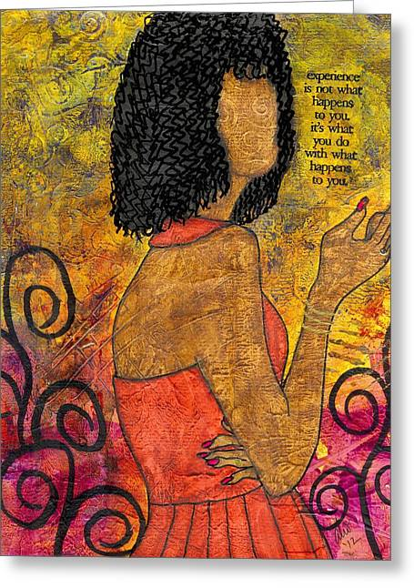 The Wise Lady Who Lives Next Door Greeting Card by Angela L Walker