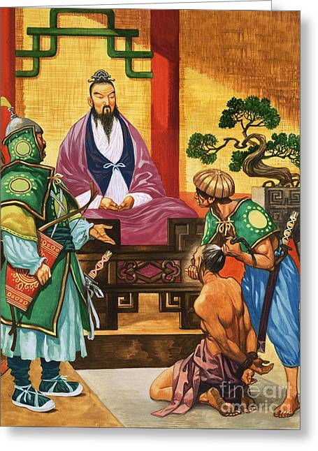 The Wise Man Of China  Confucious Greeting Card by Peter Jackson