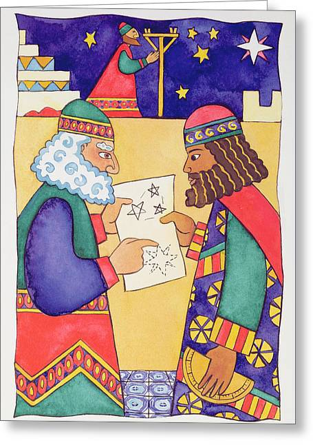 The Wise Men Looking For The Star Of Bethlehem Greeting Card