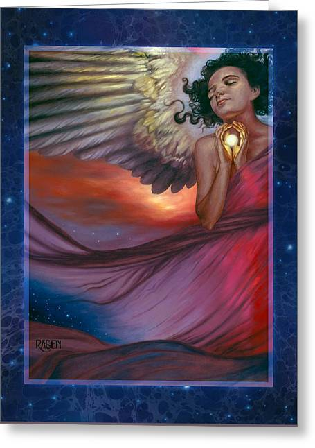 Greeting Card featuring the painting The Wish Bearer by Ragen Mendenhall