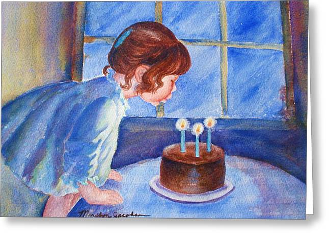 Greeting Card featuring the painting The Wish by Marilyn Jacobson
