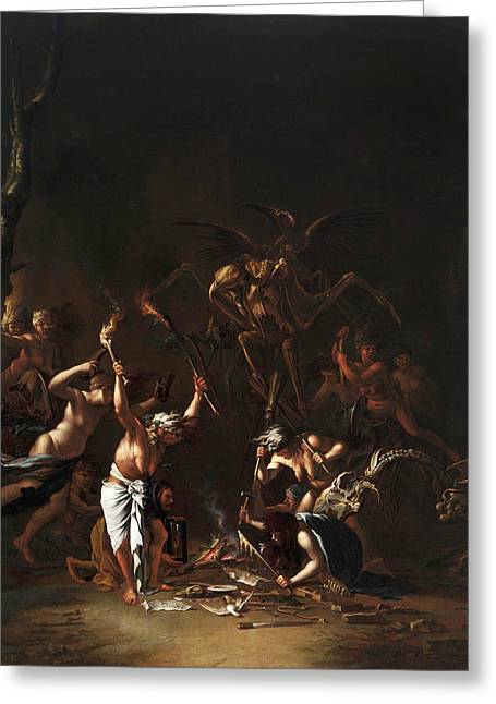 The Witches' Sabbath Greeting Card by Salvator Rosa