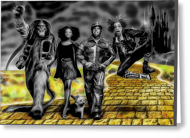 The Wiz Collection Greeting Card by Marvin Blaine