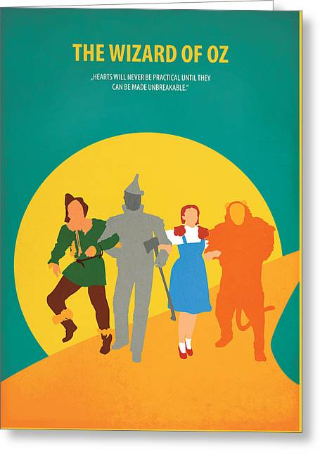 The Wizard Of Oz Greeting Card by Fraulein Fisher
