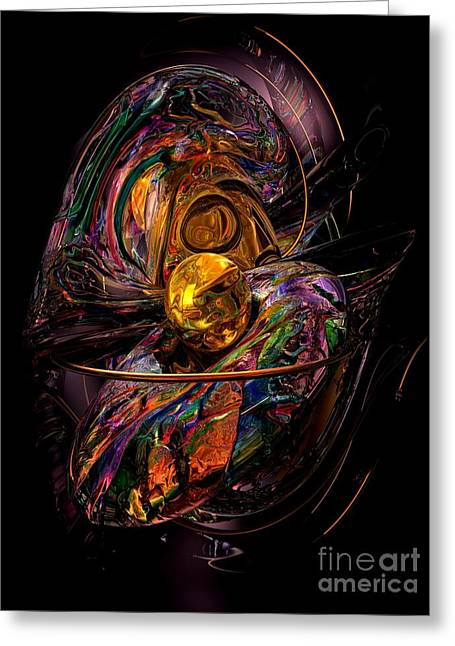 The Wizards Way Abstract Greeting Card by Alexander Butler