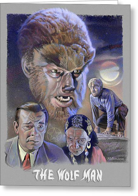 The Wolf Man Greeting Card