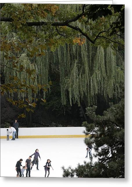 The Wollman Rink Greeting Card by Christopher Kirby