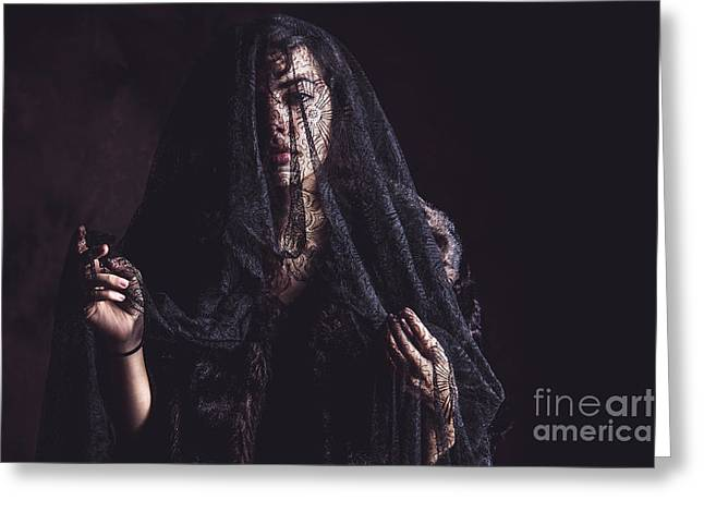 The Woman In Black 3 Greeting Card by Keith Morris