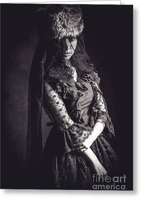 The Woman In Black 5 Greeting Card by Keith Morris