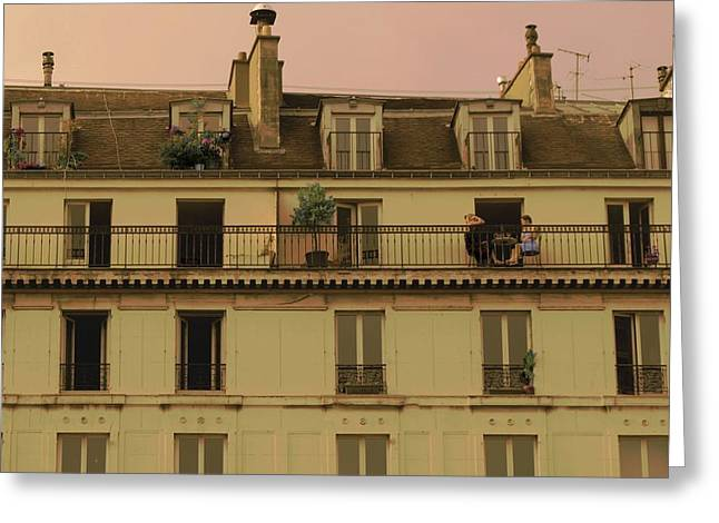 The Women On The Balcony Greeting Card by Louise Fahy