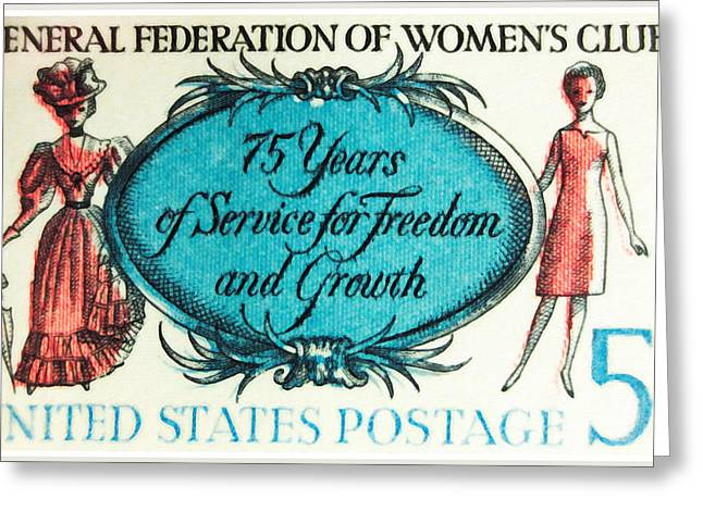 The Women's Clubs Stamp Greeting Card by Lanjee Chee