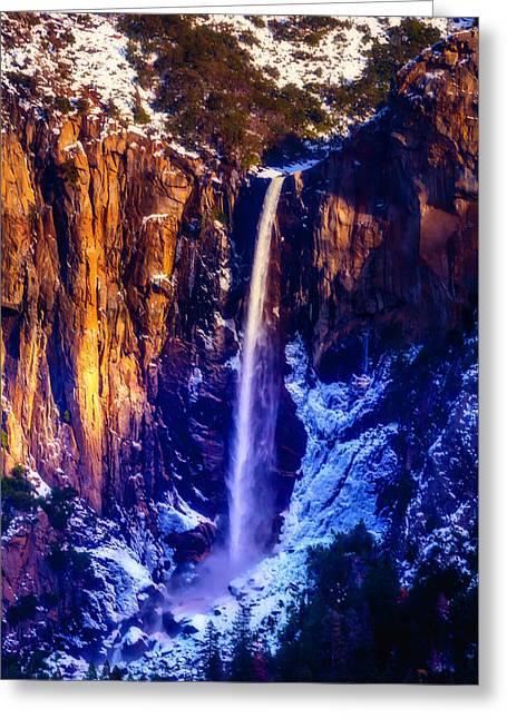The Wonderful Bridalveil  Falls Greeting Card by Garry Gay