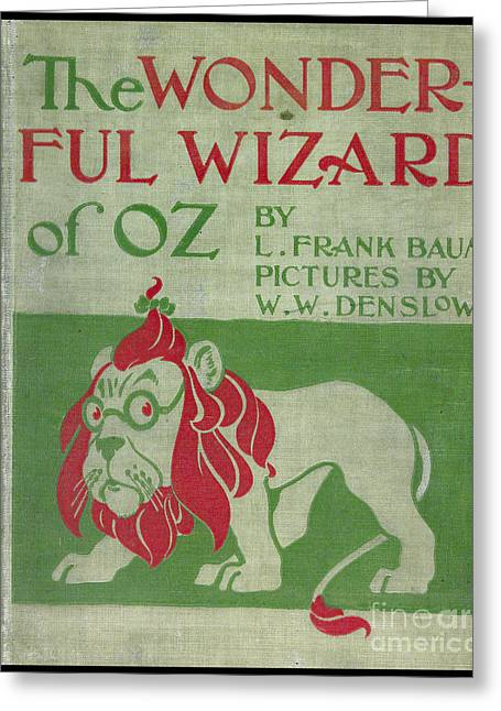 The Wonderful Wizard Of Oz First Edition Greeting Card by Edward Fielding