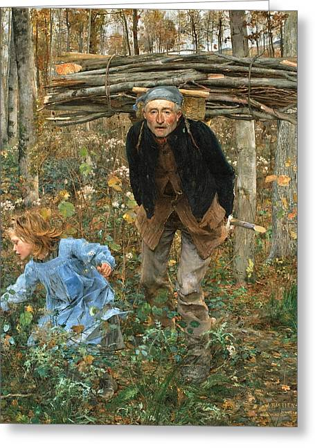 The Wood Gatherer Greeting Card