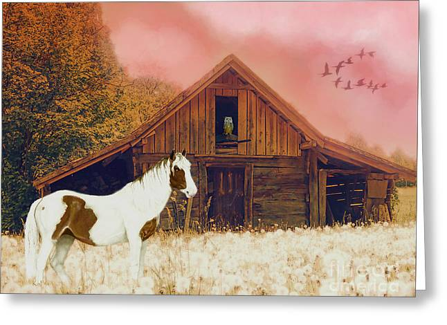 The Wood Shed Greeting Card by KaFra Art