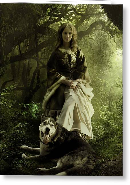 The Wood Witch Greeting Card by Cheri Stollings