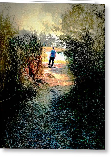 The Wooded Path Greeting Card by Diana Angstadt