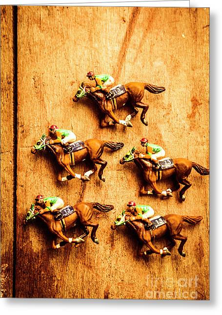 The Wooden Horse Race Greeting Card