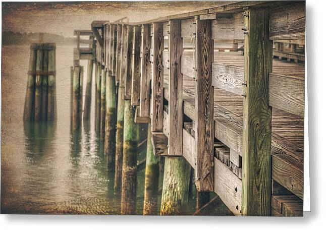 The Wooden Pier Greeting Card by Carol Japp