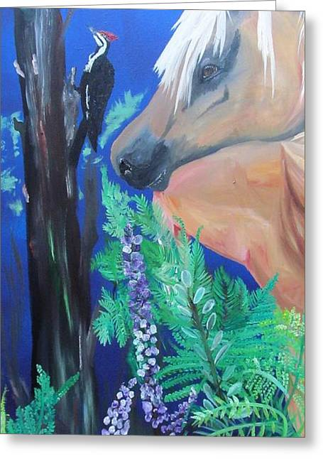 The Woodlands Greeting Card by Susan Snow Voidets