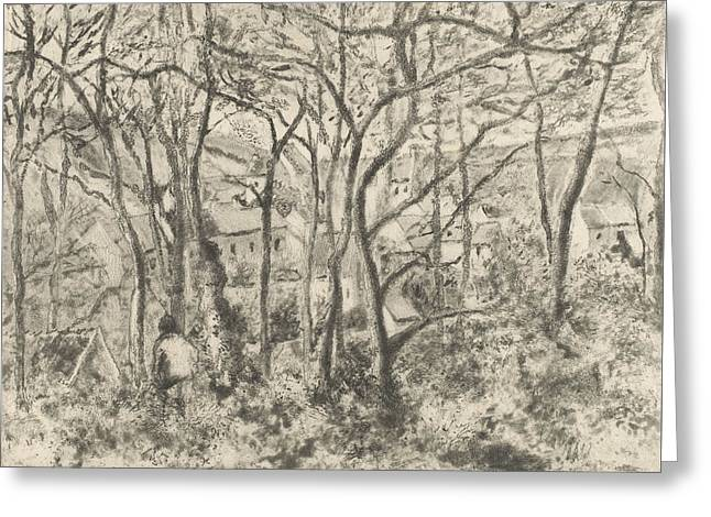 The Woods At L'hermitage, Pontoise Greeting Card by Camille Pissarro
